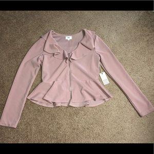 Jackets & Blazers - Peplum Zip Up Blazer